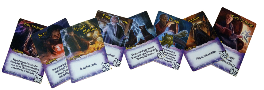 Exemplar Action Cards (Wizards)