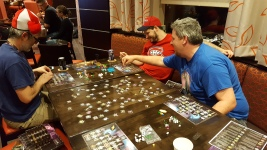 Shaun getting destroyed at Galaxy Trucker